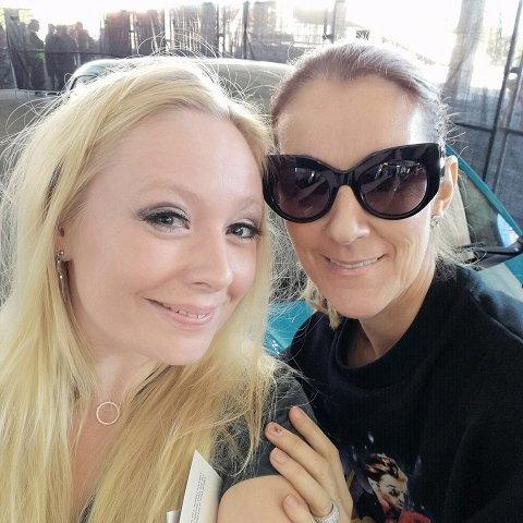 HELDIG: Kjersti Palm Reitan fikk møte sitt store forbilde, Céline Dion.