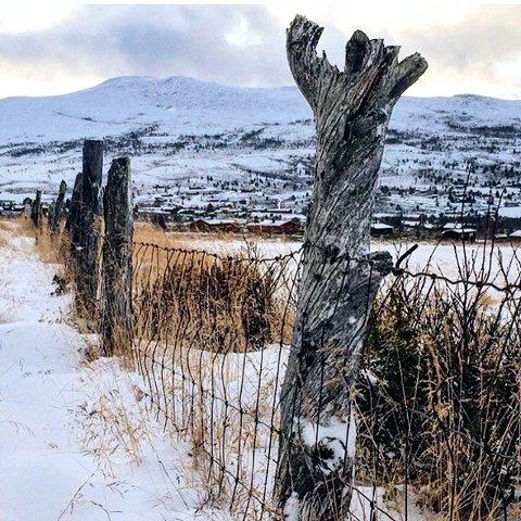 SNØ: Så kom snøen i fjellet. Høvringen. Foto: Magne Neprud