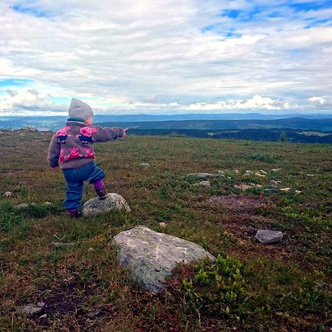 4. Hærfjellet: Se «Gammelhans», mamma. Foto: Heidi Gorseth