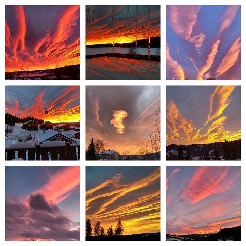 Himmelen var gudommelig vakker torsdag. Mange har merket bildene sine med #gdbilder på instagram.