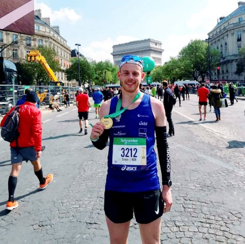 Simen Næss Berge fra Lillehammer IF har satt personlig rekord i maraton.