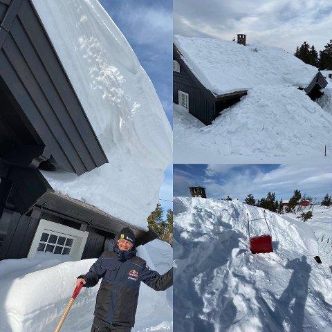 Ola Fløene har mål om å gå ned mer i vekt enn rallykollegaen Anders Mikkelsen. Han tror det blir lett match med å måke hyttetak i Ringsakerfjellet.