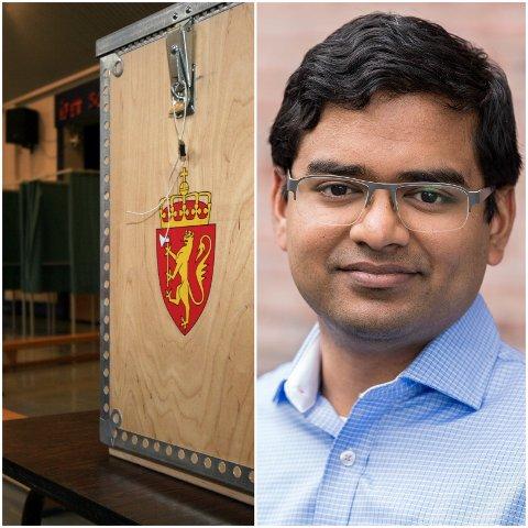 IKKE BRA NOK: Mizanur Rahaman er på 6. plass på SV sin stortingsliste i Oppland. Ingen andre med innvandrerbakgrunn er høyere plassert på noen av partienes lister.