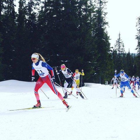 SVEA: Marie Renèe Sørum Gangsø er eneste skiløper som går for lokal klubb på Beitostølen. Foto: Privat