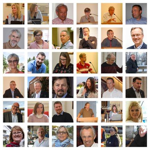 Dette er noen av de folkevalgte på Hadeland.