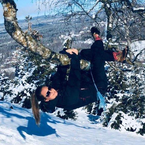 MYE UTE: Jeanette Sørbråten har vært mye utendørs det siste året. Både på jobb og privat.