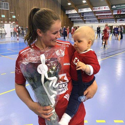 EN TID FOR ALT: Martine Moen har opplevd mye som håndballspiller. Nå vil hun bruke mer tid med sønnen Mikkel.