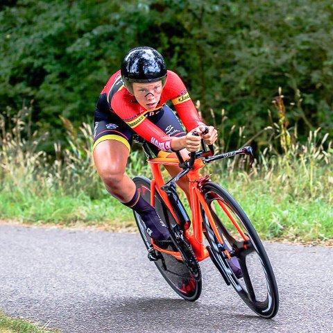 PRESTERER BRA: Elise Olsen fra Halden CK har levert gode resulater i gigantrittet Jeugdtour Assen i Nederland.