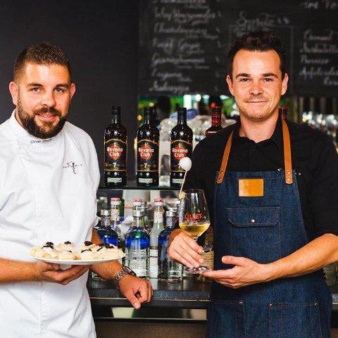 SAMMEN: Oliwer Weber gikk sammen med den profesjonelle bartenderen Dominik Wolf om å lage konseptet «Eat 'n Mix».