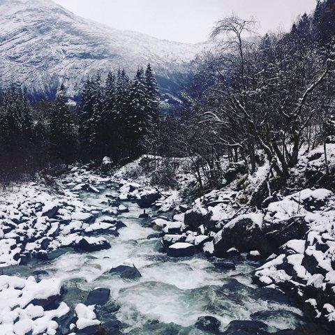 Opo: Opedal Ljosverk har søkt om å få utnytta elv på Lofthus. Arkivfoto: Privat