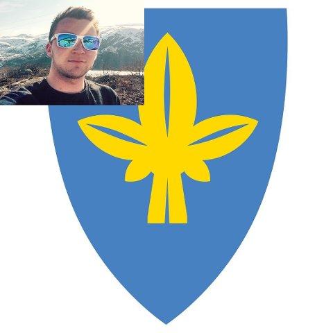 – Er det blå og gule forslaget første steg i ein kampanje for legalisering av cannabis i Ullensvang kommune, spør Halldor Viskjer Eide (innfelt foto) etter at dei fem forslaga til nytt kommunevåpen vart lagt fram.