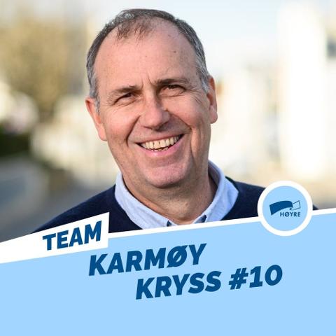 Ole Kristian Nilsen. Listekandidat fra fastlandet for Karmøy Høyre.