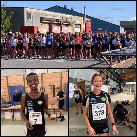 NY SUKSESS: 419 deltakere stilte til start i Aibelsprinten. Tedros Haile og Kristine Lande Dommersnes stakk av med seieren i herre- og dameklassen.