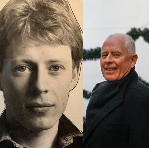 DA OG NÅ: Til venstre har du Odd Fossan-Waage Jr. som 24-åring. Til høyre er han avbildet i Haugesund sentrum i 2018.