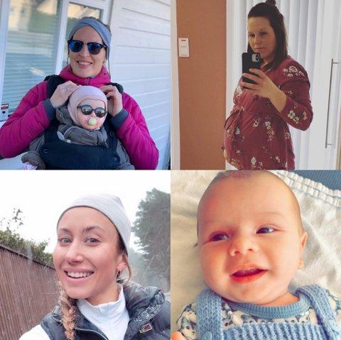 PÅVIRKER PERMISJONSLIVET: Haugesunds Avis har snakket med tre nybakte mødre og en vordende mor om hverdagen med koronarestriksjoner.
