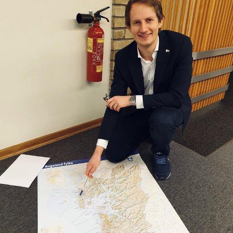 Stortingsrepresentant Stokkebø (H) da første skritt for å redde Haugesund lufthavn var vedtatt.