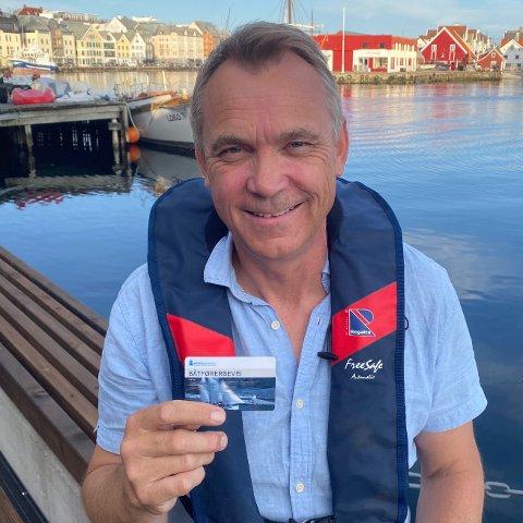 BEVIS: Jan Idar Vikse fra Haugesund er en av de som tok båtførerprøven i 2019. I år har rekordmange tatt prøven til tross for utfordringer knyttet til koronasituasjonen.