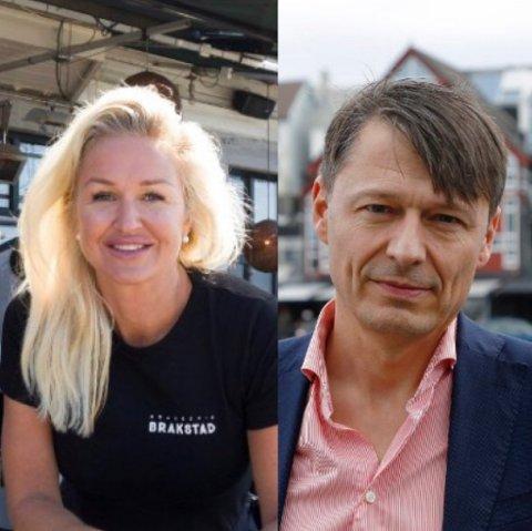 FORSTÅR FORBUDET: Synnøve Haftorsen Brakstad hos Brasserie Brakstad og Bjørn Gerry Viksund i Inventum sier de har full forståelse for forbudet mot alkoholservering etter midnatt.