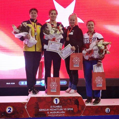 Signe Store var fornøyd med en tredjeplass i Istanbul.