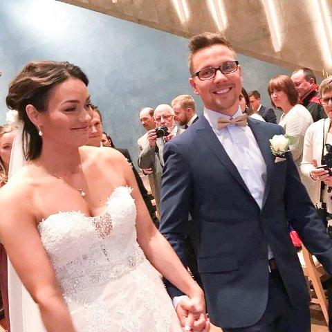 EKTEPAR: I august i fjor ble Hanne og Tom Egil, kone og mann.