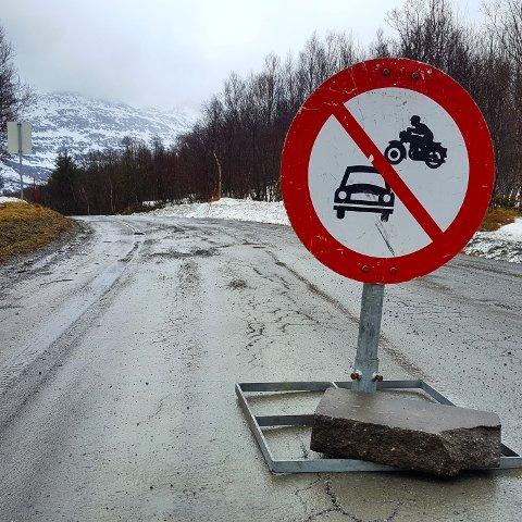 Botnveien over Høgåsen er nå stengt.