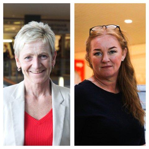 SENTERLEDERNE: Siri Øksnevad Olsen på Jærhagen og Eli Ulveseter på M44 anmelder alle tyveri.