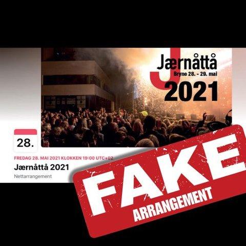 ÅTVARAR: Jærnåttå-komiteen åtvarar mot eit falskt arrangement på facebook.