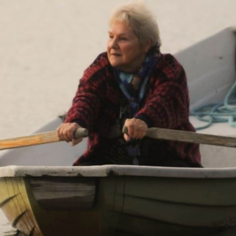 LROR: Liv Thrane (80) på vei til kroøving i Fossekallen.