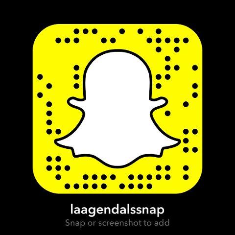 Scan inn denne koden for å følge oss på Snapchat!