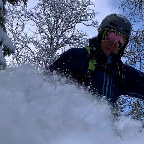SKIKJØRING: Mye snø å boltre seg, og mer er det meldt.