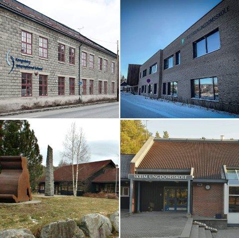 RØDT NIVÅ: Fra og med torsdag 18. mars blir det igjen innført rødt nivå på ungdomsskolene Vestsiden, Skrim,  Kongsberg International School og Tislegård.