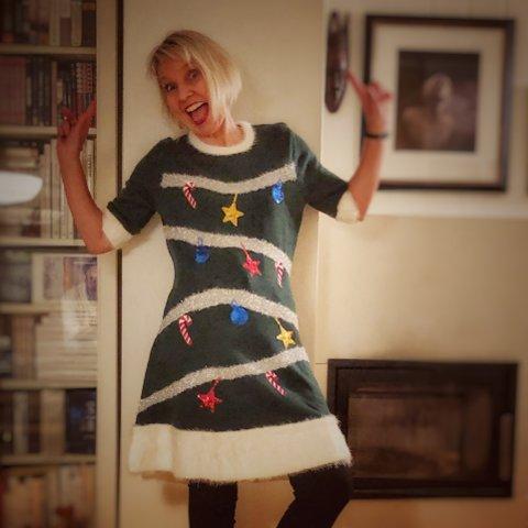 """Jul på """"Granca"""": Forfatter Marit Reiersgård fra Lier var reiseleder og feira derfor jul i syden."""