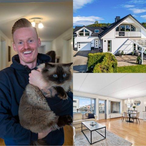 FLYTTER: Martin Rønning Ovenstad og kjæresten har kjøpt hus i Lier. Nå selger han leiligheten på Bragernes strand. Foto: Fotograf Wallinga, Jørn Beheim / Inviso og Tore Sandberg