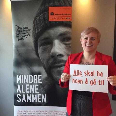 TV-Aksjonen 2018: Kathrine Windsrygg (31) fra Svolvær er avdelingsleder for arbeid og aktivitet hos Kirkens Bymisjon i Bodø.