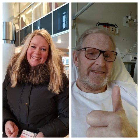 Jonny Gjertsen takker Sissel Walsøe på Dressmann på City Nord etter en god opplevelse.