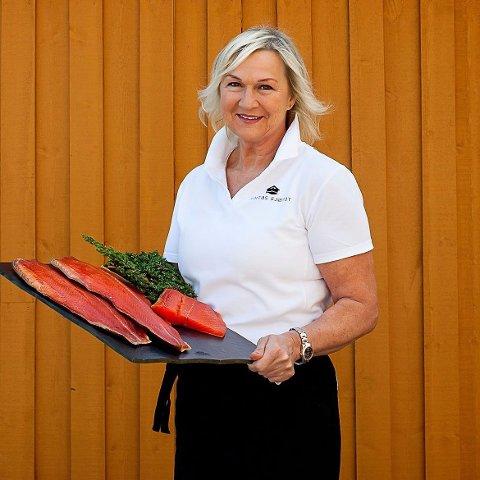 ØKER: Anita Gylseth økte omsetningen i fjor til 10,4 millioner kroner på salg av sjømat.