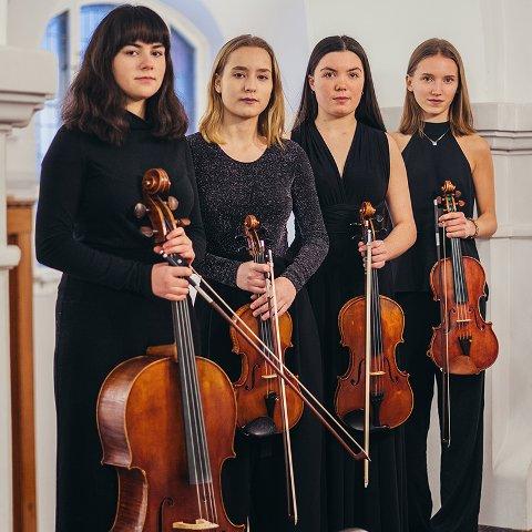 Sonoro: Denne strykekvartetten kan du få på besøk hjemme i din egen stue!