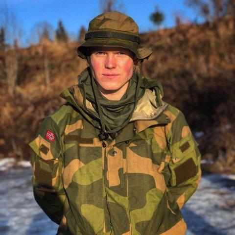 Halvard Angel (19) tilbringer året som patruljefører i Garden.