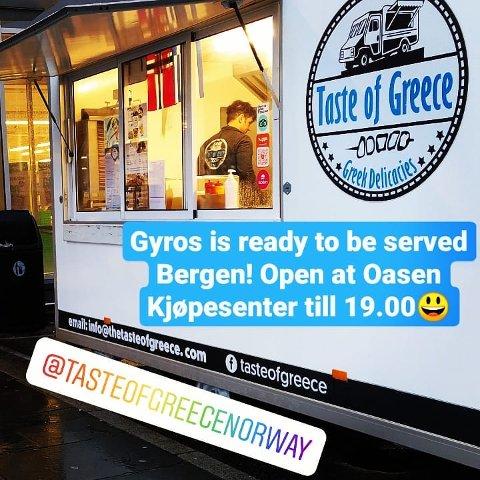BERGEN: Taste of Greece AS har to foodtrucks i Bergen.