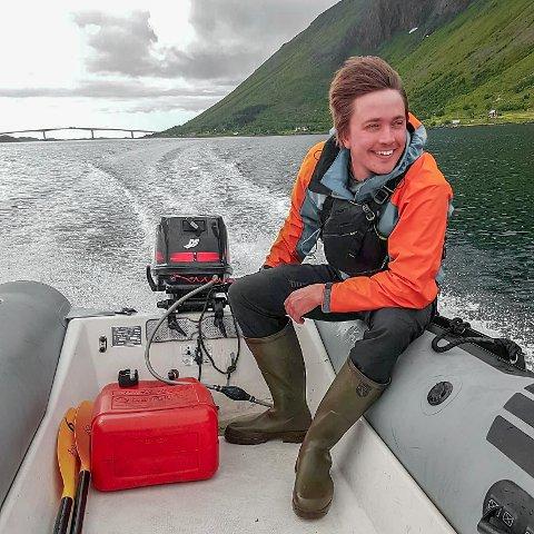 NYETABLERT: Alex Chavanne har nettopp flyttet til Lofoten - og satser nå på en karriere innen vindusvasking.