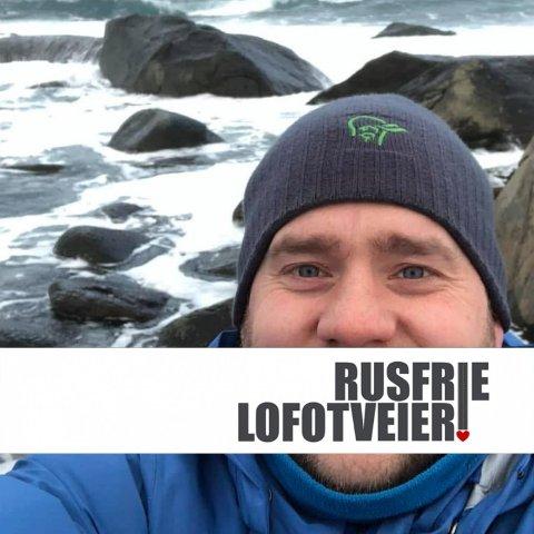 Benjamin Einarsen har sett seg veldig lei på ruskjørere i Lofoten.