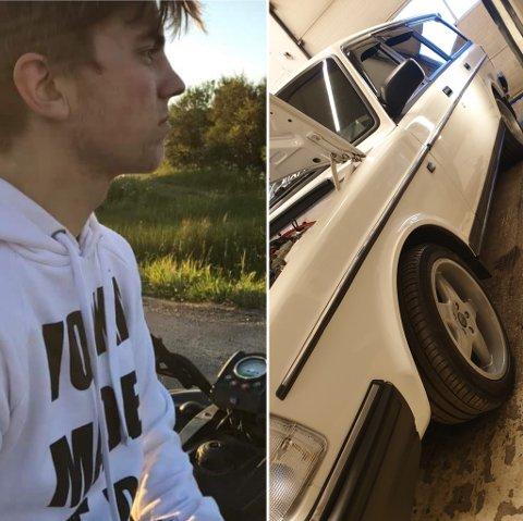 For 19-åringen fra Bøstad så mye potensiale i den hvite Volvoen, da han kjøpte den for to år siden.