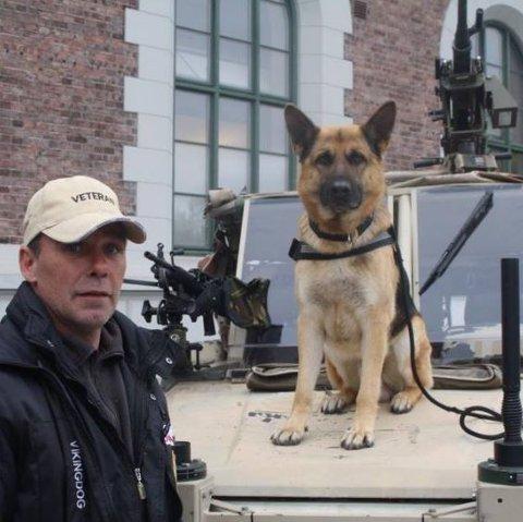 SKAL HJELPE KRIGSVETERANER: Lago er Norges første terapihund for krigsveteraner, og allerede kåret til Norges dyrehelt.