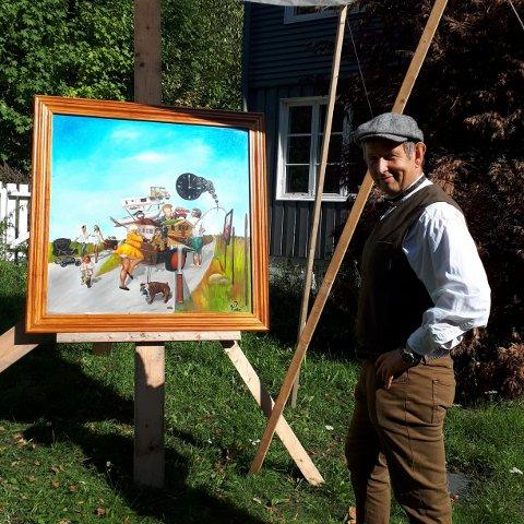 """VINNER: Rene Molenaar var en av vinnerne med bildet """"Så dreit bikkja""""."""