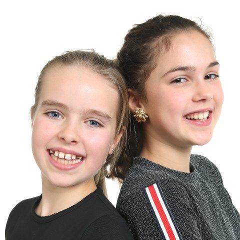 """VENNINNER: Anna og Emma deltar i MGP jr. med sangen """"Kloden er syk"""". De to oslojentene har beholdt vennskapet selv om Emma har flyttet fra Smestad til Ormøya, og i mai skal de stå sammen på scenen i Telenor Arena."""