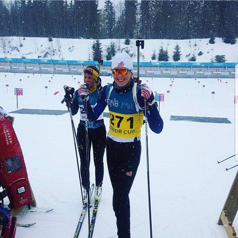 BLE NUMMER TO: Trym Silsand Gerhardsen gjennomførte en sterk sesong, og ble nummer to sammenlagt i G17-klassen i skiskyting. FOTO: Privat.