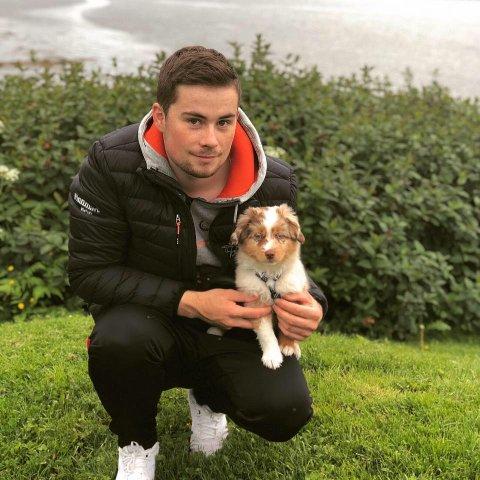 SNART PÅ TUR: Ørjan Balto Hansen, her sammen med hunden Alfa, reiser til Russland om litt over én måned.