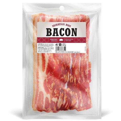 SALMONELLA: Nortura tilbakekaller enkelte partier av baconet med navn «Skikkelig digg bacon» etter funn av salmonella. Foto: Nortura / NTB