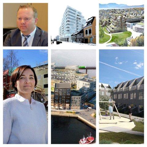 BOM STOPP: Flere store prosjekter stopper opp for byggekonsernet William Eiendom. Det frustrerer konsernsjef Tomas Norager Haugan. Tromsø kommune, ved Laila Falck, forstår frustrasjonen, men mener at utbyggerne selv utfordrer byggereglene.