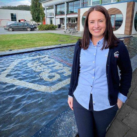 NY JOBB: Ane Martine Horsfjord (38) kapret jobben som markedsførings- og kommunikasjonsansvarlig i Overhalla Betongbygg.